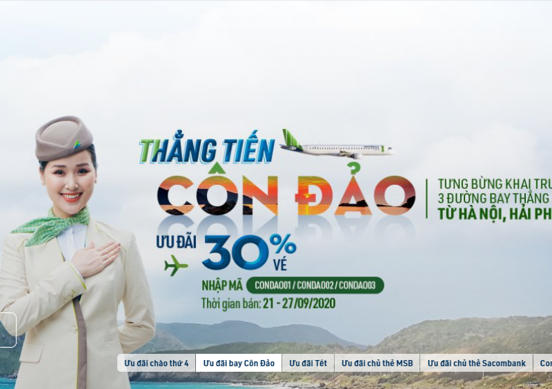 ve may bay di con dao bamboo airways